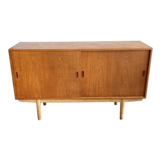 Mid 20th Century Borge Morgensen Teak Credenza For Sale