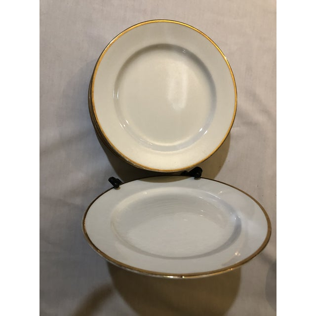 18th Century W. H. Grindley & Co Chine Marengo Pattern White Gold Trim Dinnerware - 83 Pieces For Sale - Image 10 of 13