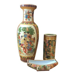 1970s Collection of Asian Chinoiserie - Set of 3