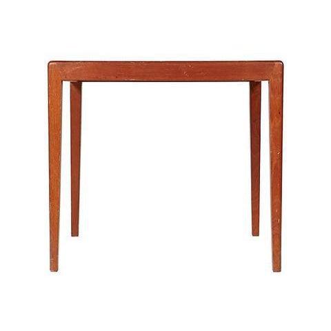 Danish Modern 1960s Square Teak Side Table For Sale - Image 3 of 5