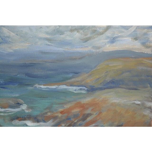 Coastline Impressionist Acrylic Painting For Sale - Image 4 of 6