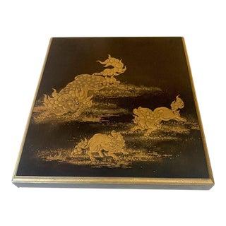 Japanese Lacquer Box with Fine Maki-e Decoration Meiji Period For Sale