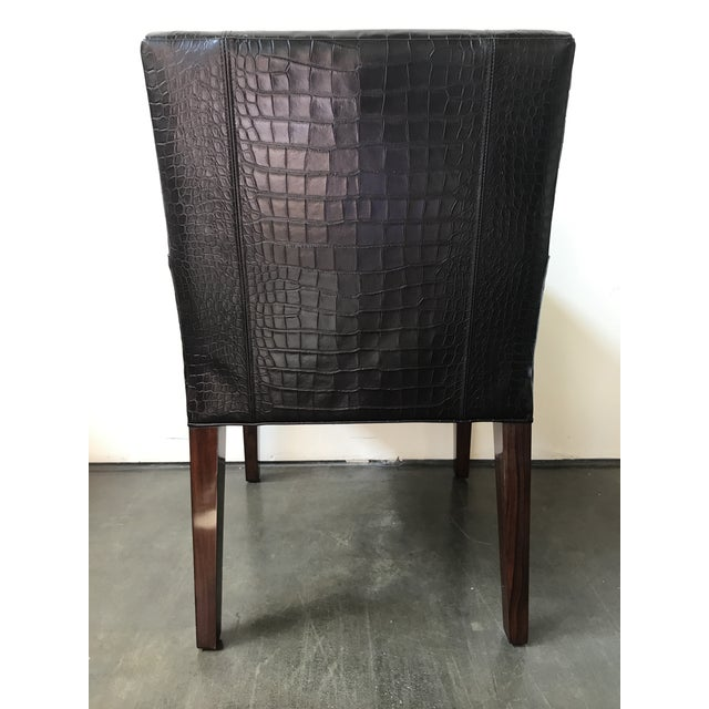 Ralph Lauren Ralph Lauren Home Modern Metropolis Leather Armchairs - a Pair For Sale - Image 4 of 12