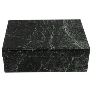 Églomisé Verdigris Marble Table Box For Sale
