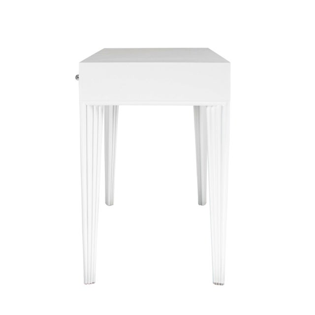 Not Yet Made - Made To Order Barcelona Desk - White For Sale - Image 5 of 7