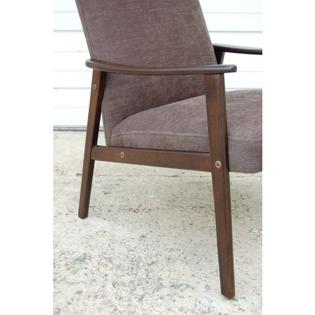 Vintage Swedish Modern Chenille Lounge Armchair For Sale In Atlanta - Image 6 of 9