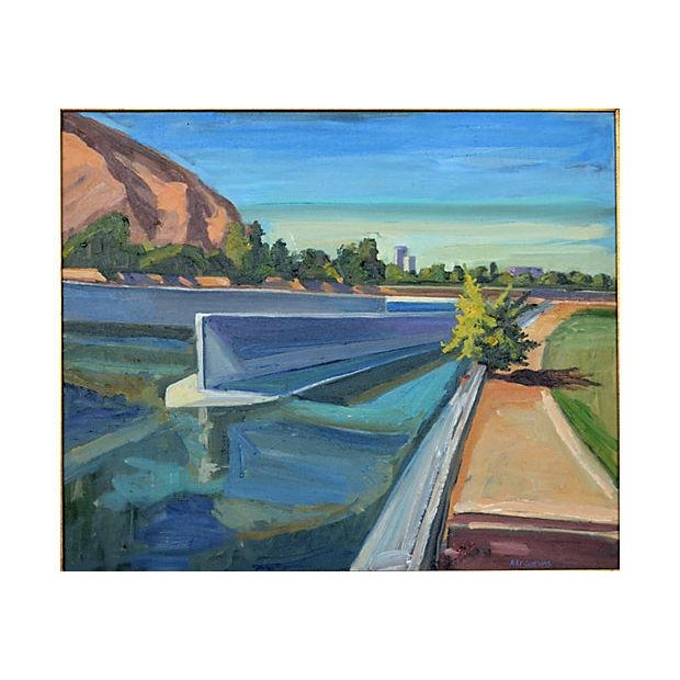 Ray Cuevas Los Angeles River Painting - Image 2 of 2