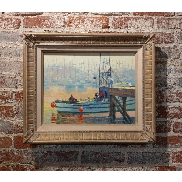 Paul Youngman - Moss Landing,CA - Seascape Scene - original Oil painting oil painting on canvas -signed frame size 20 x...