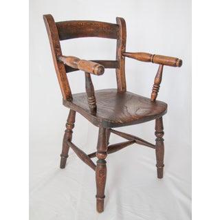 Antique English Oak Child's Chair Preview
