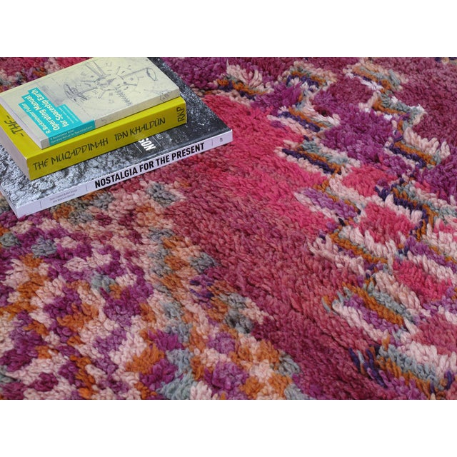 1960s Moroccan Boujad Wool Rug - 6′3″ × 9′4″ For Sale - Image 5 of 8