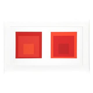 Josef Albers - Portfolio 2, Folder 27, Image 2 Framed Silkscreen For Sale