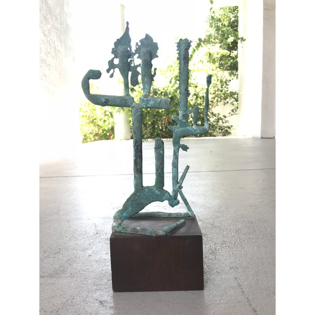 Metal Mid Century Modern Metal Sculpture For Sale - Image 7 of 7