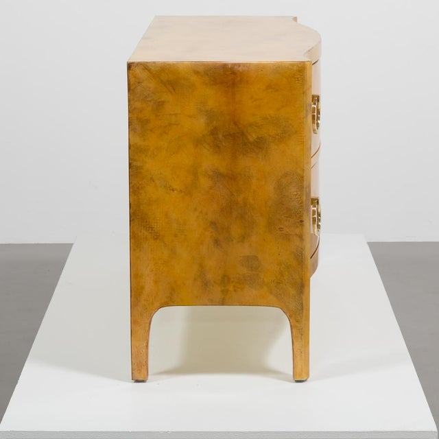 Mid-Century Modern Lacquered Goatskin Commode 1970's For Sale - Image 3 of 8