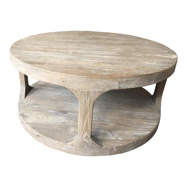 Restoration Hardware French Coffee Table: Restoration Hardware Martens Round Coffee Table