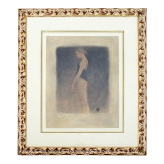 Contemporary Modern Framed Signed Roy Fairchild Woodard Aquatint Etching Saskia For Sale