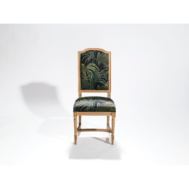 Louis XV Set of Eight Louis XV Style Chairs, 1950s For Sale - Image 3 of 11