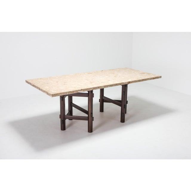 Belgian Modern Terazzo Marble Dining Table by Jan Vlug For Sale - Image 3 of 9
