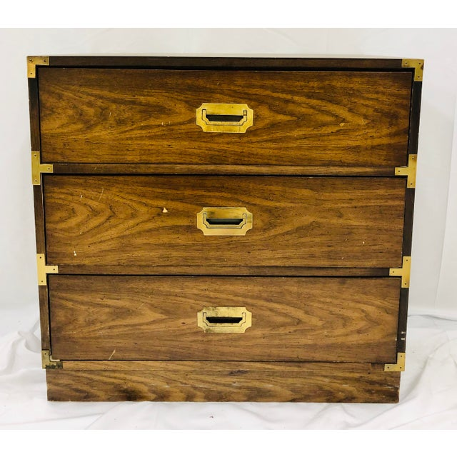 Vintage Campaign Style Bachelors Chest For Sale In Raleigh - Image 6 of 6