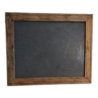 Vintage Wood Framed Chalkboard For Sale