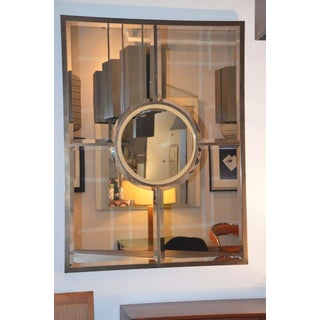 Design Frères Solid Brass Beveled Quadrature Mirror For Sale