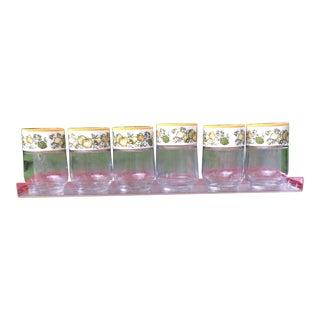 Vintage Gemco Spice Jars With Lucite Shelf - Set of 7
