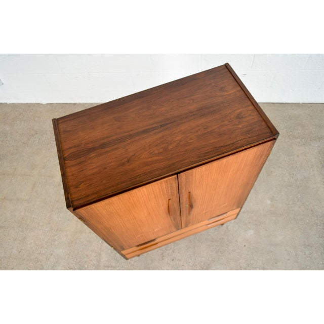 Mid Century Danish Modern Rosewood Bar Cabinet For Sale - Image 10 of 11