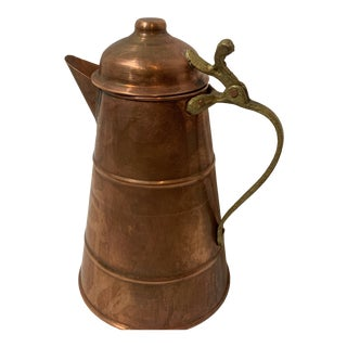 Decorative Copper Coffee Urn With Lid For Sale
