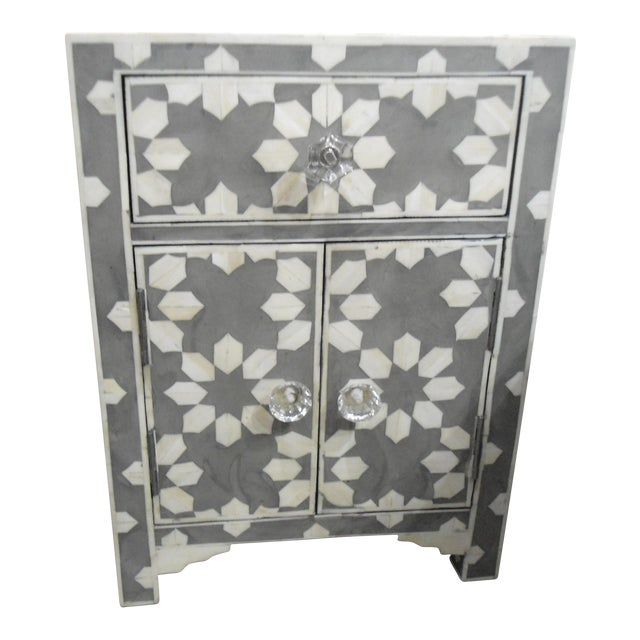 HD Buttercup Bone Inlay Nightstand For Sale