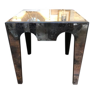 Hollywood Regency Eglomise Mirror Table For Sale