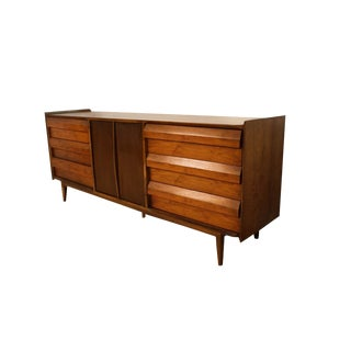 Mid Century Lane First Edition Dresser Louvered Front Drawers For Sale