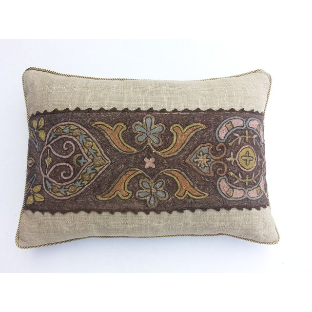 French metallic embroidered pillow - Image 2 of 3