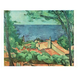 1940s Cezanne Seascape at l'Estaque Swiss Plate For Sale