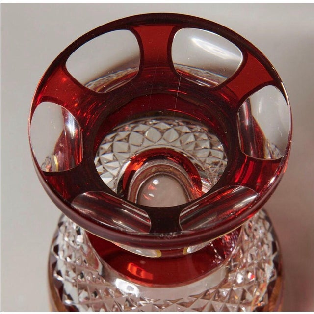 Late 19th Century Late 19th Century Ruby & Parcel-Gilt Bohemian Glasses - Set of 12 For Sale - Image 5 of 8