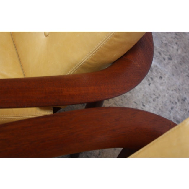 Folke Ohlsson for Dux Swedish Modern Leather and Teak Lounge Chairs- A Pair For Sale - Image 10 of 13