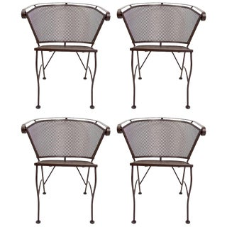 Four Dining Chairs by Salterini For Sale
