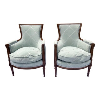 20th Century Vintage Louis XVI Style Chairs - A Pair For Sale