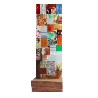 Abstract Puzzle Panel Wall Sculpture For Sale