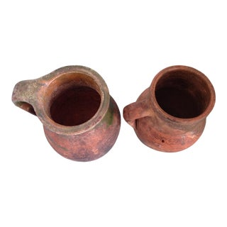 Mid 20th Century French Provençal Terra-Cotta Jugs - a Pair For Sale