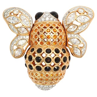 Large French Bumble Bee Brooch For Sale
