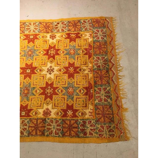 Handmade and dyed Moroccan rug.