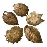 Image of Mid- Century Cambron Brass Leaf Dishes - Set of 5 For Sale