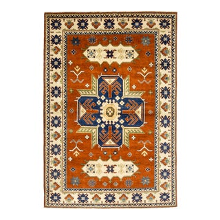 One-Of-A-Kind Traditional Hand-Knotted Area Rug, Brown, 6 X 8' 10 For Sale