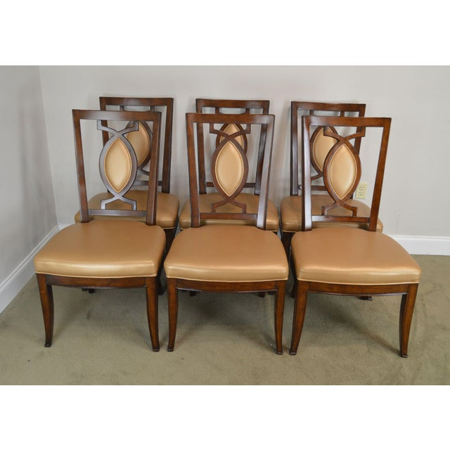 Traditional Regency Classic Modern Style Set 6 Dining Chairs For Sale - Image 3 of 12