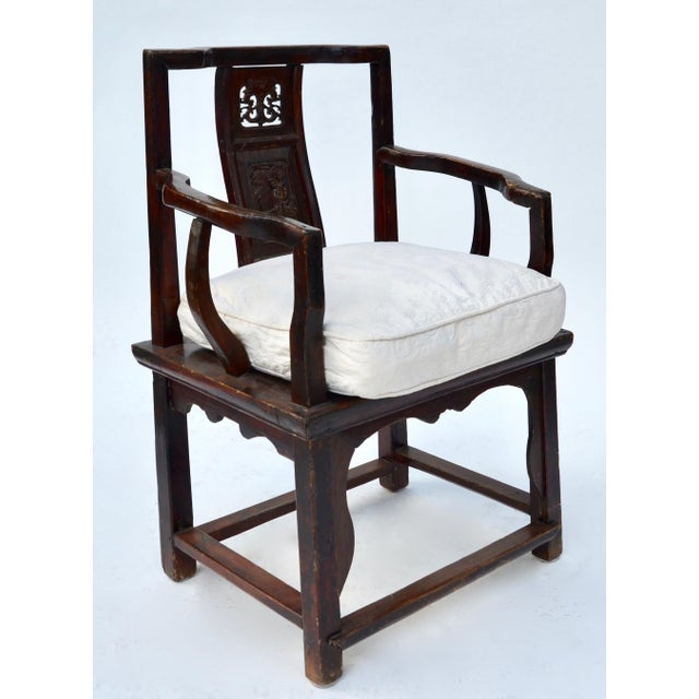 Antique Chinese Wood Carved Chair - Image 8 of 8