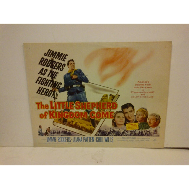 """A vintage movie poster titled """"The Little Shepherd Of Kingdom Come"""". It is starring Jimmie Rogers and Luana Patten...."""