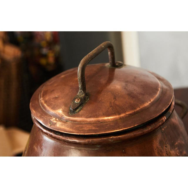 Early 19th Century Hammered Copper Dutch Samovar For Sale - Image 5 of 7
