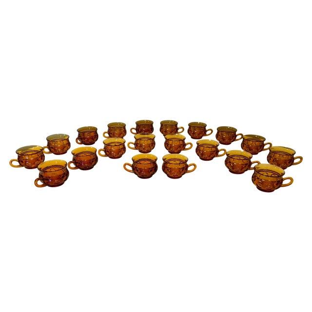 Vintage Amber Kings Crown Coffee Cups - Set of 20 - Image 1 of 6