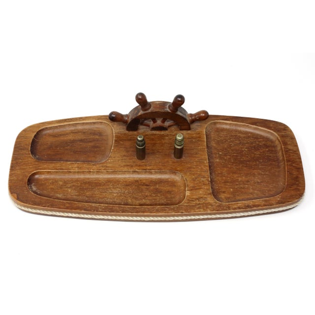 Vintage Wood Nautical Dresser Valet For Sale In Tampa - Image 6 of 11