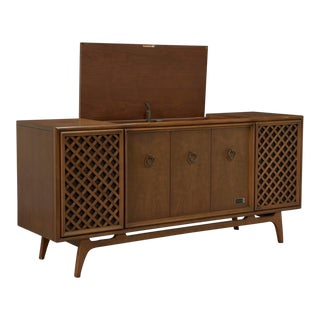 Zenith Stereophonic Stereo Cabinet With Record Player and Working Radio For Sale