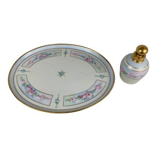 Ceramic Perfume Tray With Bottle For Sale